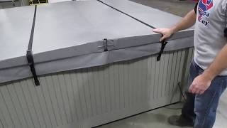 Hot Tub Cover Wind Straps & Cover Caps How To Information Video American Spa Parts