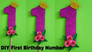 First Birthday Number | First Birthday Anniversary Number 1 | Baby Boy / Girl First Birthday Themes