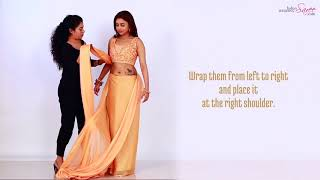 How to Wear a Nivi Style Saree in 1 Minute | Nivi Style Saree Draping | Indian Wedding Saree