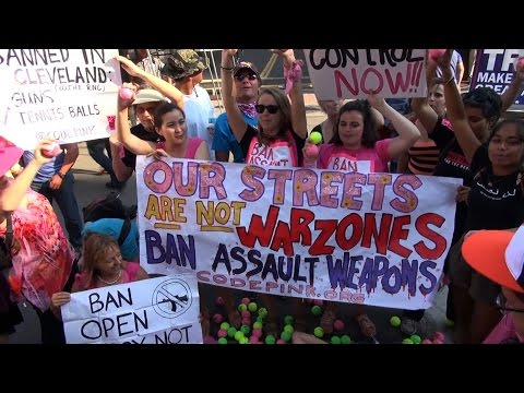 Ban Guns, Not Tennis Balls: As NRA Addresses RNC, CodePink Protests Ohio