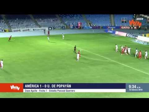 América vs. Universitario de Popayán (1-0) Copa Aguila 2019 | Fecha 1