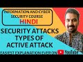 Security Attacks : Types Of Active Attacks Explained in Hindi