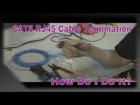 CAT5 RJ45 Termination for Audio / Video Installations - YouTube