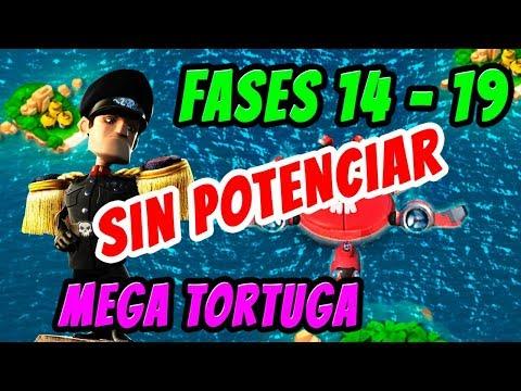 Mega Tortuga Fases 14 a 19 sin potenciar | Boom Beach Español