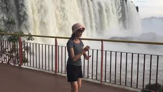 Played Tai Chi by the Iguacu Falls, Brazil Nov 2019