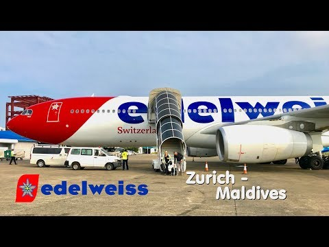 ✈TRIP REPORT | Edelweiss Air (Economy) | Zurich - Malé | Airbus A330-300
