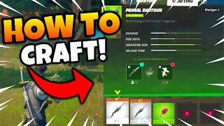 Fortnite How to Craft Guide! Craft Items Tutorial for Season 6 Challenges