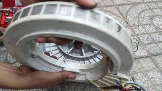 Wash Toshiba inverter motor, khám phá motor máy giặt công nghiệp chế máy phát điện