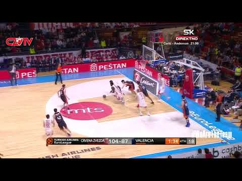 Play of the game: Mathias Lessort | BC Crvena zvezda mts - Valencia Basket