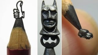 Artist creates sculptures out of pencil lead - скульптуры из грифеля (графита) карандашей