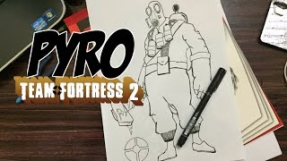 "How to draw ""Pyro"" from Team Fortress 2"