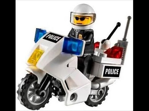 Police Motorcycle How To Build 1 6 Lego City 60047 Instructions