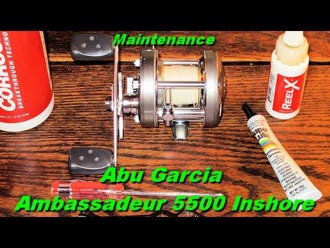 Abu Garcia Ambadeur 5500 Inshore Fishing Reel Maintenance on