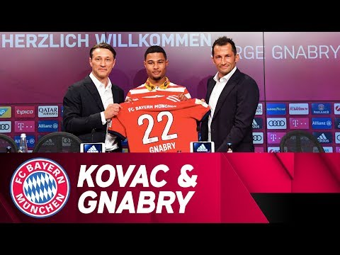 Niko Kovac & Serge Gnabry Presentation at FC Bayern // German