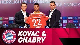 Niko Kovac & Serge Gnabry Presentation at FC Bayern // German