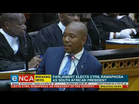 Maimane vows to support President Cyril Ramaphosa