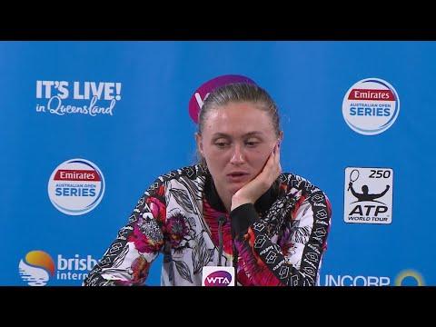Aliaksandra Sasnovich press conference (Finals) | Brisbane International 2018