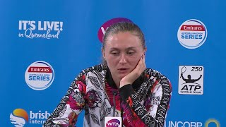 Aliaksandra Sasnovich press conference (F) | Brisbane International 2018