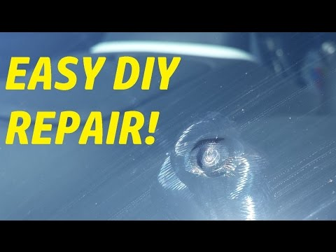 EASY – Car Windshield Star Repair – Using Repair Kit