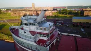 Exploring Duluth Harbor Aerial Flyover Edward L Ryerson Ore Carrier
