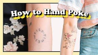 How To Hand P๐ke | Easy Stick n Poke Tattoo | Tattoo Yourself at Home | Super Simple Steps