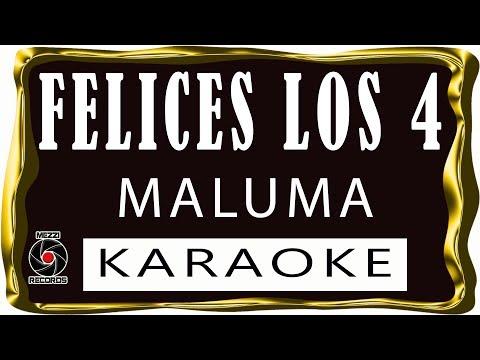 Felices los cuatro - Karaoke - (cumbia)