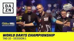 Max Hopp kämpft um den Einzug ins Achtelfinale: World Darts Championship | Tag 10 - Session 1 | DAZN