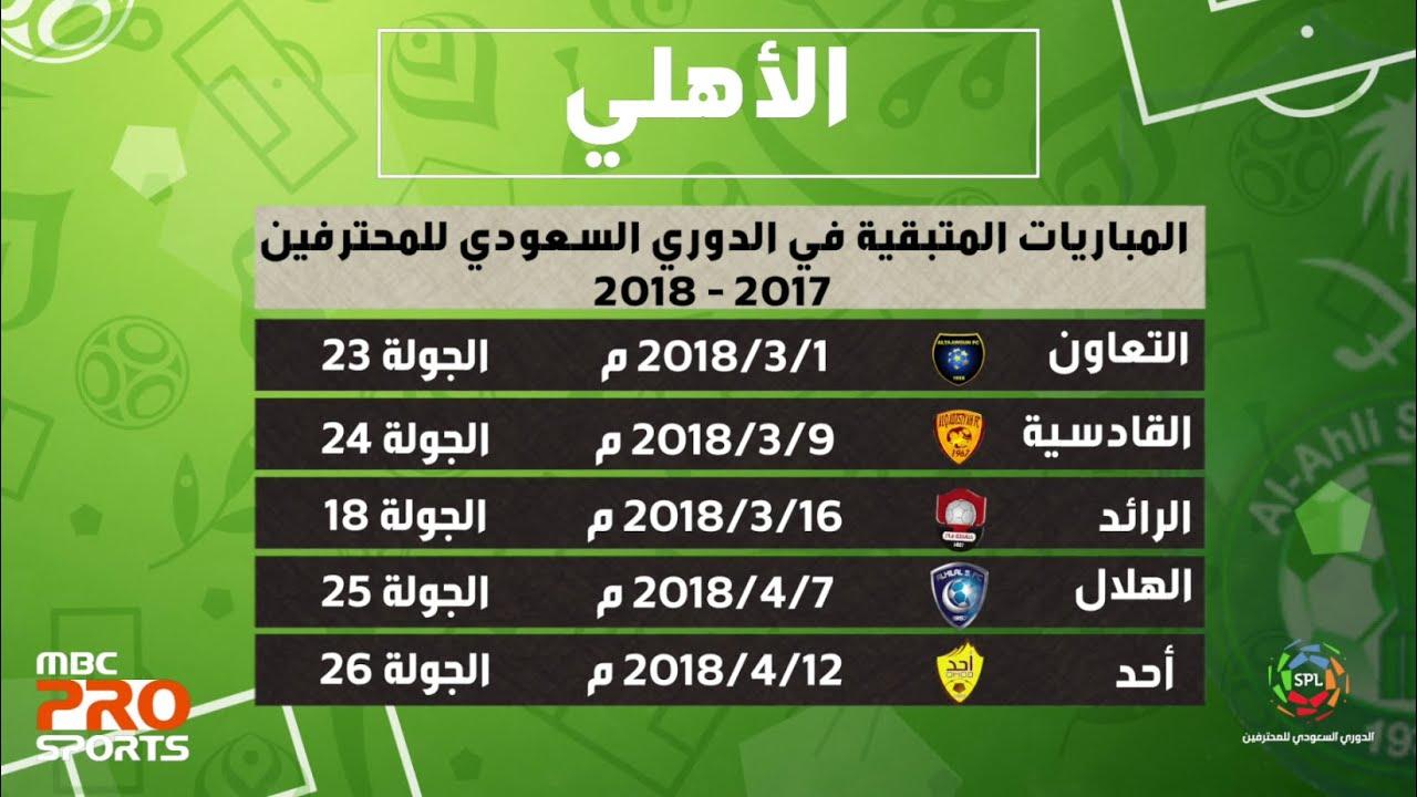 الجولة القادمة من الدوري السعودي