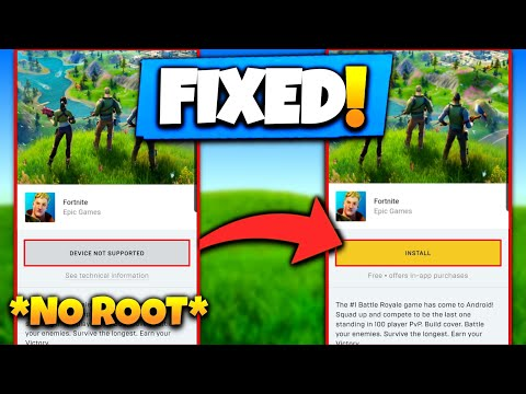 FORTNITE DEVICE NOT SUPPORTED FIX   FORTNITE CHAPTER 2 APK