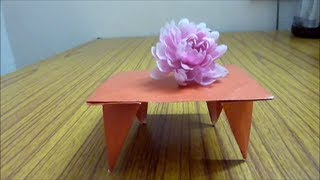 How To Make An Origami Table Easily....