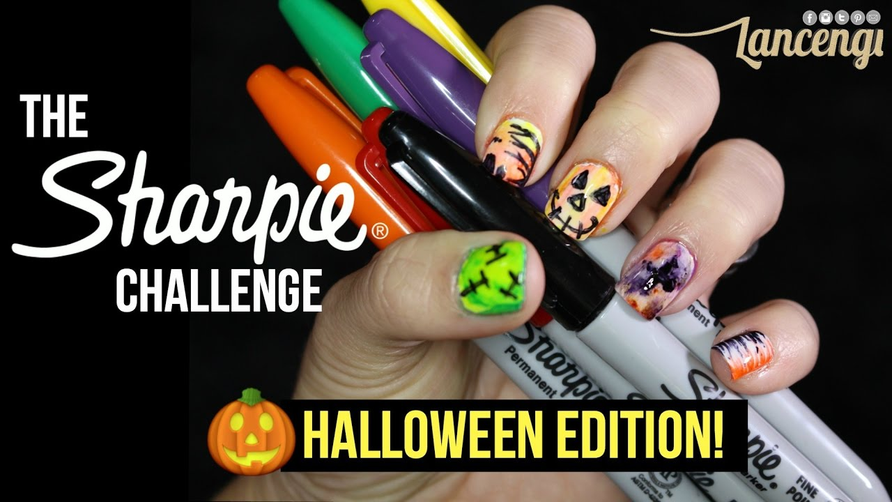 Sharpie Nail Art Challenge - 5 DIY Halloween Designs ...