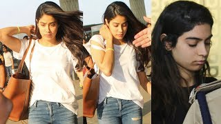 Emotional Jhanvi Kapoor And Khushi Kapoor Snapped In A Sad Mood At Airport After Sridevi's Death