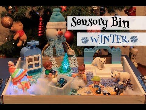 Дидактические игры зимняя сенсорная коробка
