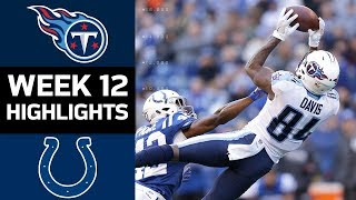 Titans vs. Colts | NFL Week 12 Game Highlights