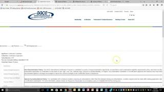 CCP Certification Application Tutorial
