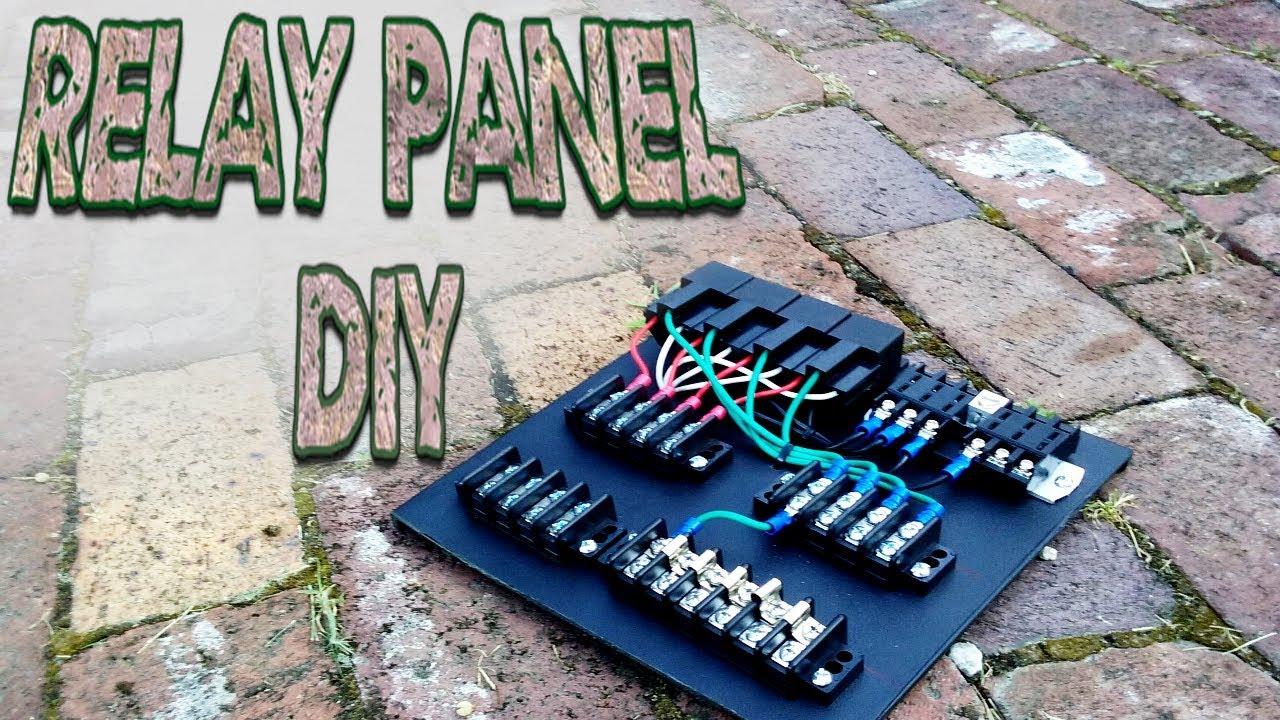 medium resolution of custom relay panel diy part 1