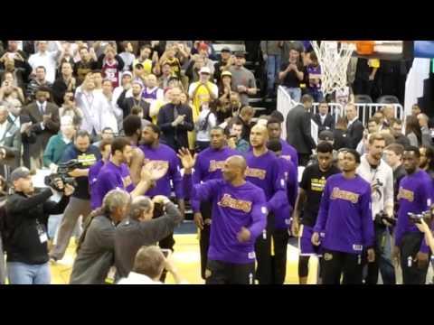 Kobe Bryant farewell game in Salt Lake City - Utah Jazz vs Los Angeles Lakers