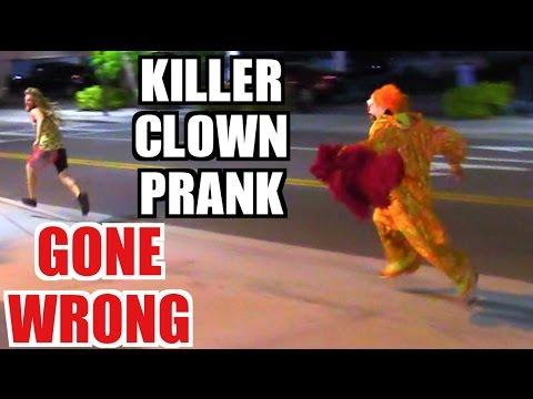 KILLER CLOWN ATTACK PRANK GONE WRONG!!! (KNIFE PULLED)