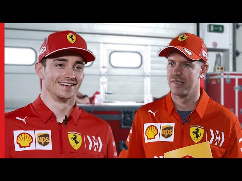 """Which Race Was My Formula 1 Debut?""  Challenging Questions with Sebastian Vettel & Charles Leclerc"