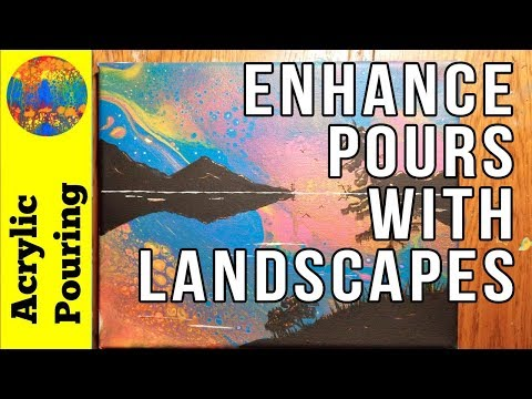 How to Enhance Your Acrylic Pours With Landscapes