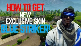 NEW BLUE STRIKER OUTFIT! | PLAYSTATION PLUS EXCLUSIVE SKIN! | Fortnite Battle Royale