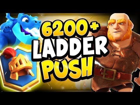 6200+ TOP LADDER PUSH LIVE GAMEPLAY WITH GIANT EDRAG - CLASH ROYALE