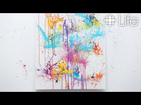 DIY Balloon Paint Splash Canvas Art | CBC Life
