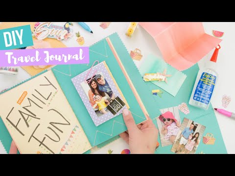 DIY Travel Journal made with Beacon Fabri-Tac and Zip Dry