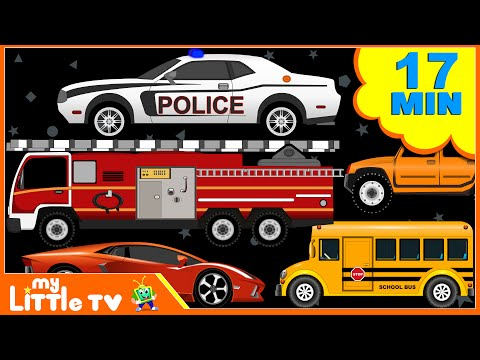 Fire Truck   Police Car   Car Wash Videos for Children   My Little TV