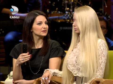 Barbie Bebek Valeria Lukyanova { Beyaz Show } 15.02.2013