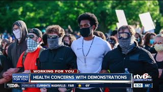 Health concerns with demonstrations