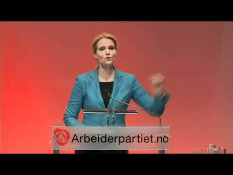 Helle Thorning- Schmidt hilser landsmøtet