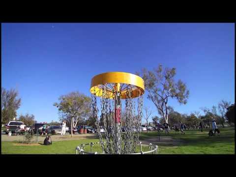 West Coast Disc Golf Huntington Beach Disc Golf Course Slow Motion Test