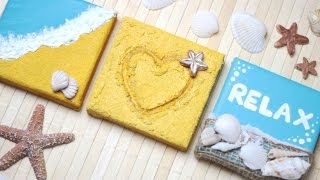 DIY: 3D Beach Canvas Wall Decor Ideas